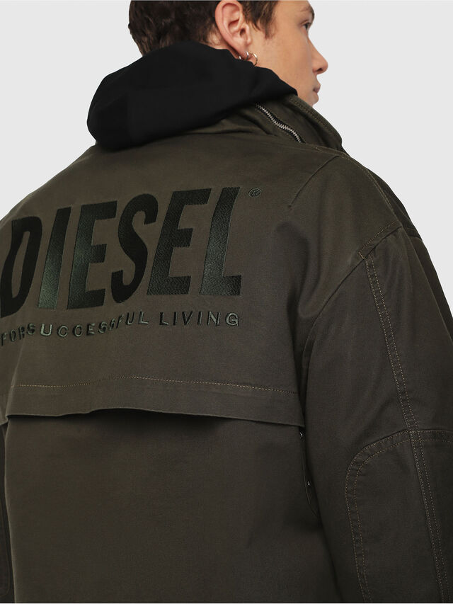 Diesel - J-TOUCHA, Military Green - Jackets - Image 5