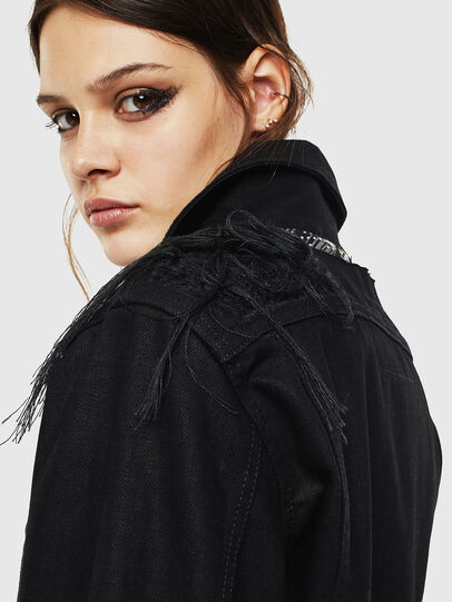 Diesel - DE-NALINI, Black/Dark grey - Denim Jackets - Image 6