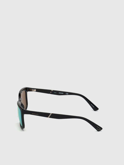 Diesel - DL0262, Black/Green - Sunglasses - Image 3