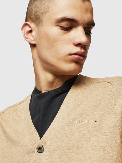 Diesel - K-MILOK, Light Brown - Knitwear - Image 3