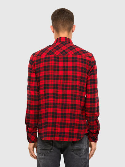 Diesel - S-EAST-LONG-CHK, Black/Red - Shirts - Image 2