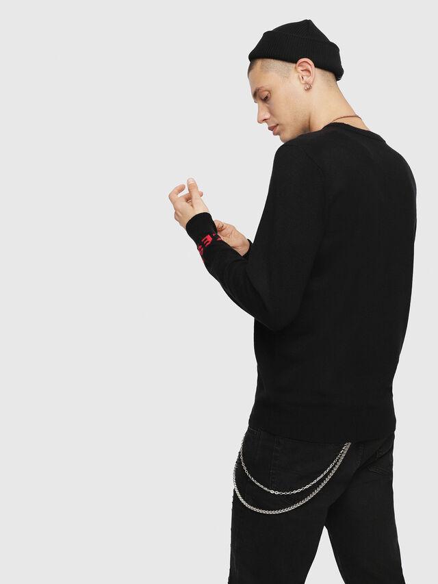 Diesel - K-COOL, Black/Pink - Knitwear - Image 2