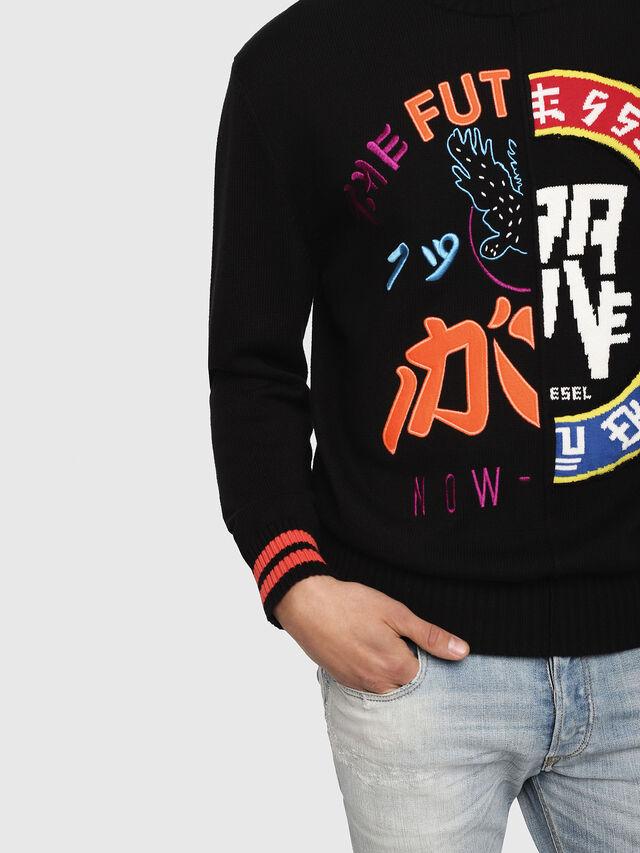 Diesel - K-FUT, Multicolor/Black - Knitwear - Image 3