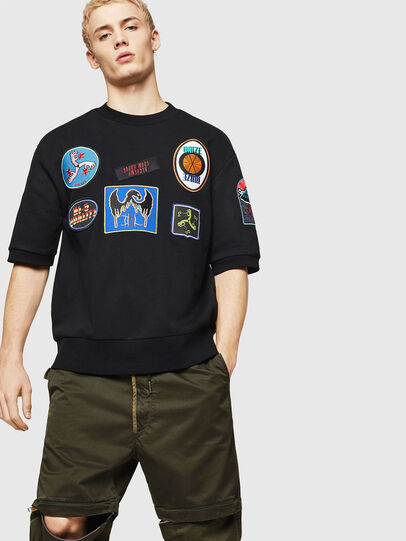 Diesel - S-MAGGY-SH-PATCH, Black - Sweaters - Image 4
