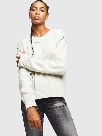 Diesel - M-CURRI, White - Knitwear - Image 1