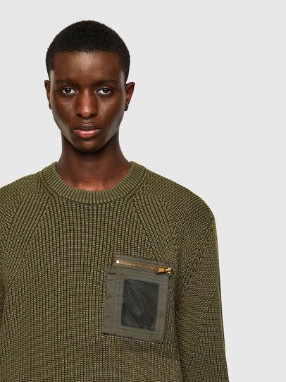 Diesel - K-MAINE, Olive Green - Knitwear - Image 4