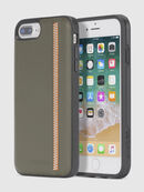 ZIP OLIVE LEATHER IPHONE 8 PLUS/7 PLUS/6s PLUS/6 PLUS CASE, Olive Green - Cases