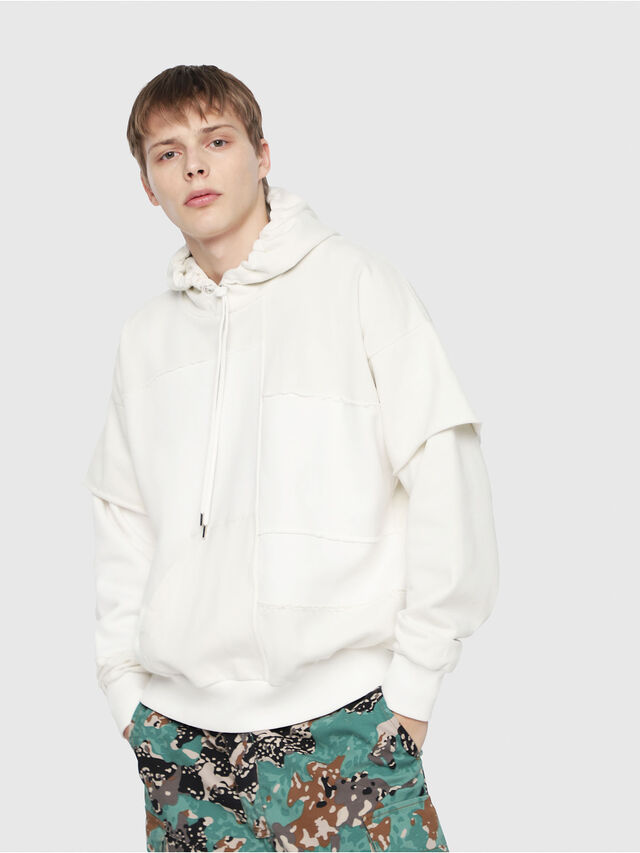 Diesel - S-TADAO, White - Sweaters - Image 1