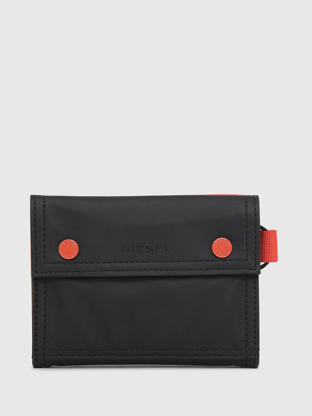 Diesel - YOSHI, Black/Red - Small Wallets - Image 1