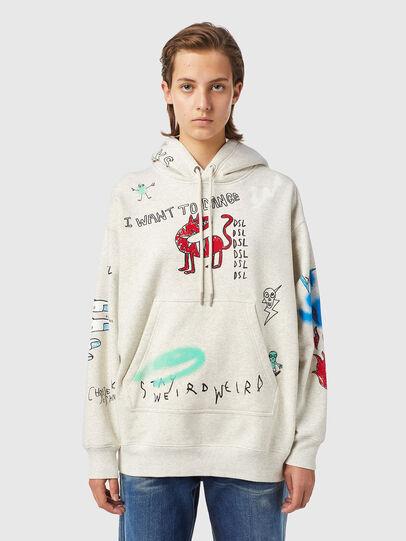 Diesel - F-EXA-HOOD-B2, Light Grey - Sweaters - Image 1