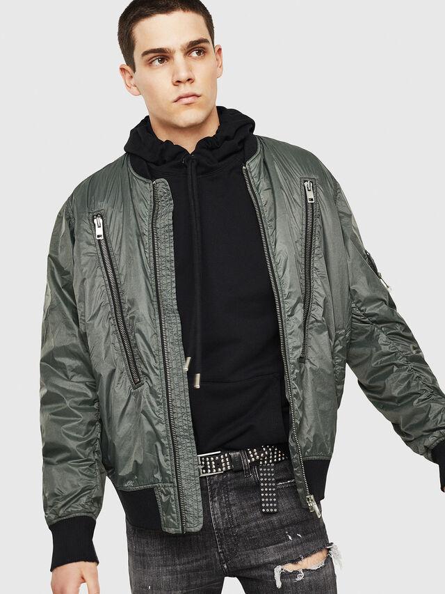 Diesel - J-TOSHIO, Dark Green - Jackets - Image 1