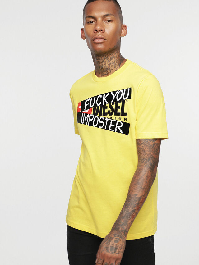 Diesel - HC-T-JUST-DIVISION-B, Yellow - T-Shirts - Image 3