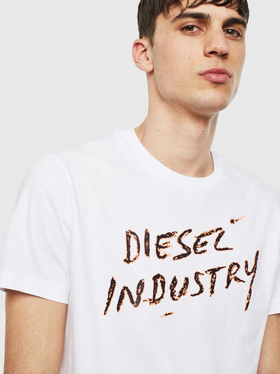 Diesel - T-DIEGO-S15, White - T-Shirts - Image 3
