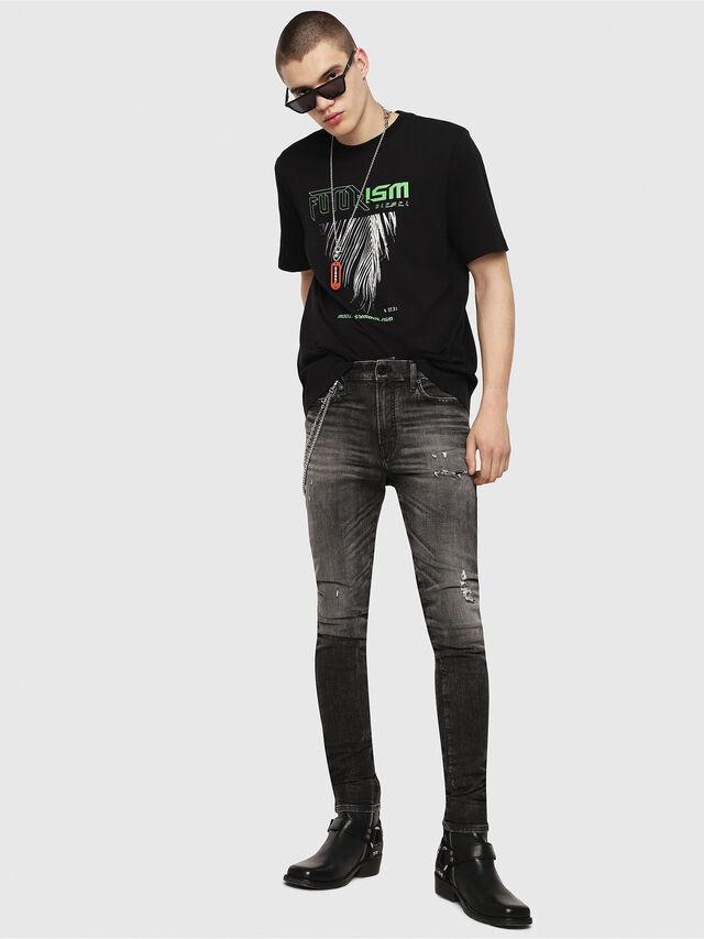 Diesel - T-JUST-Y25, Black - T-Shirts - Image 4