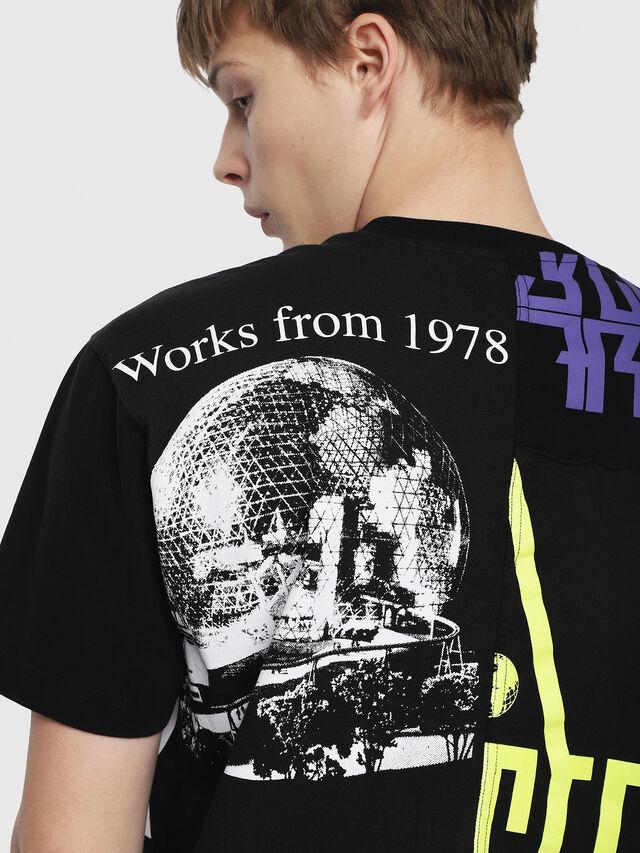 Diesel - T-WALLACE-CUT, Black - T-Shirts - Image 3