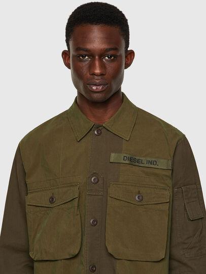 Diesel - S-ADAIR, Olive Green - Shirts - Image 3