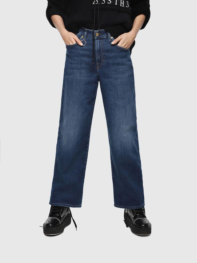 Diesel - Widee JoggJeans 080AR, Dark Blue - Jeans - Image 1