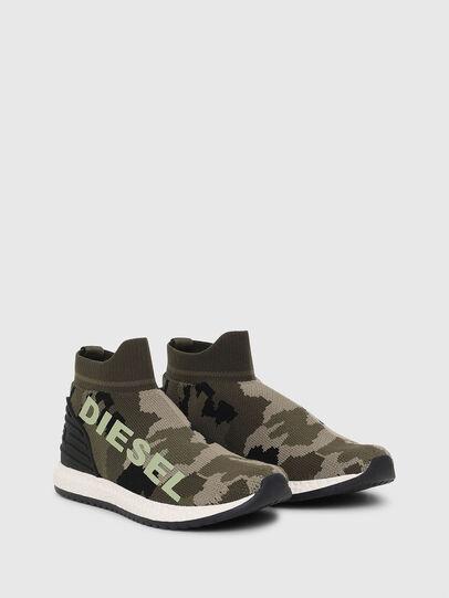 Diesel - SLIP ON 03 LOW SOCK, Green Camouflage - Footwear - Image 2