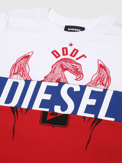 Diesel - TRICKYB-R, White/Red/Blu - T-shirts and Tops - Image 3