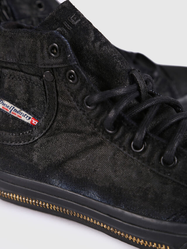 Diesel - SN MID 30 EXPOSURE Z, Black/Blue - Footwear - Image 4