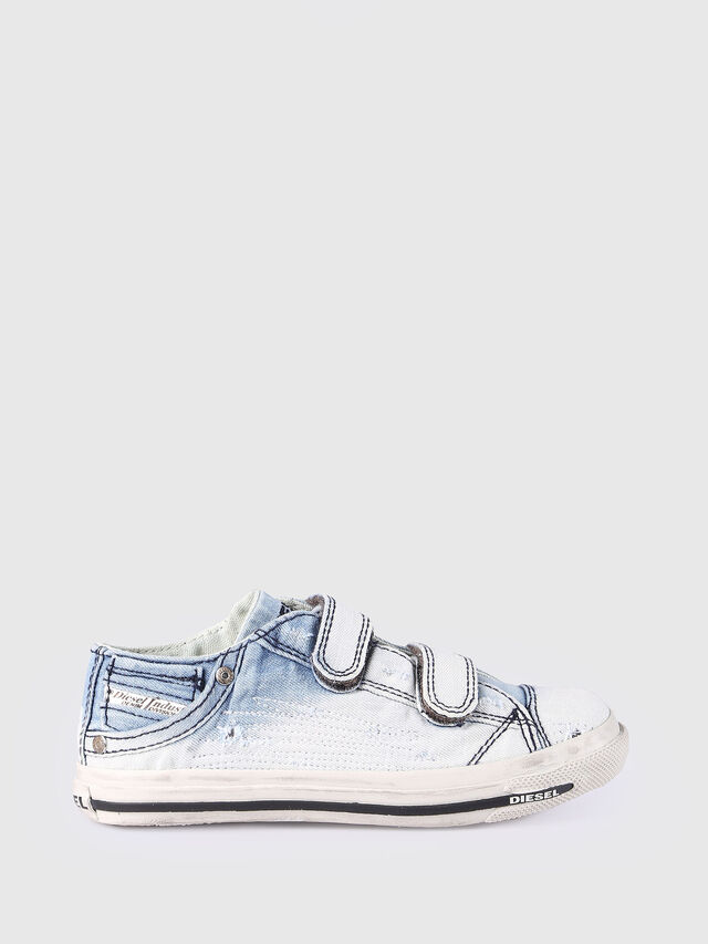 Diesel - SN LOW STRAP 11 DENI, Light Blue - Footwear - Image 1
