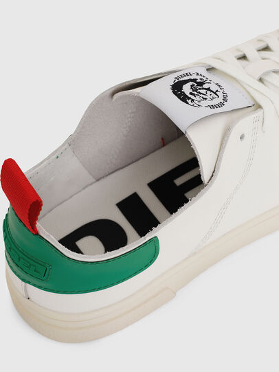 Diesel - S-CLEVER LS, White/Green - Sneakers - Image 4