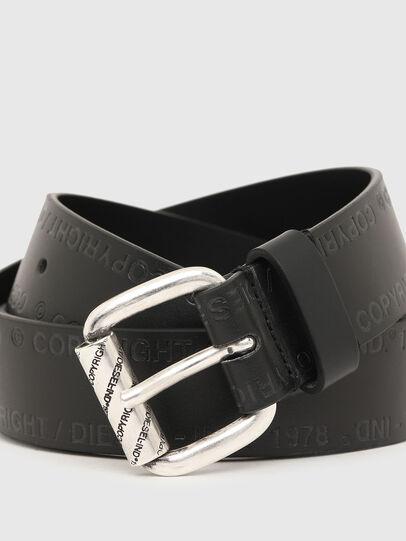 Diesel - B-FULCOPY, Black - Belts - Image 2