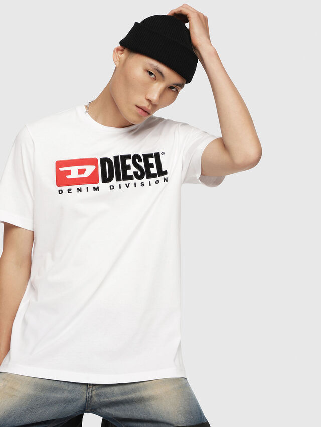 Diesel - T-JUST-DIVISION, White - T-Shirts - Image 1