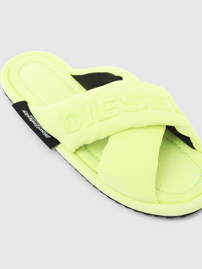 Diesel - SA-MERY X, Yellow Fluo - Slippers - Image 4