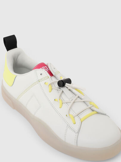 Diesel - S-CLEVER SO C, White/Yellow - Sneakers - Image 4