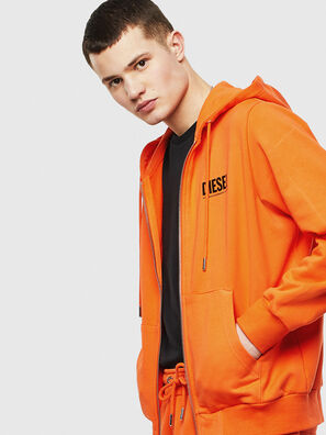 S-GIRK-HOOD-ZIP-LOGO, Orange - Sweaters