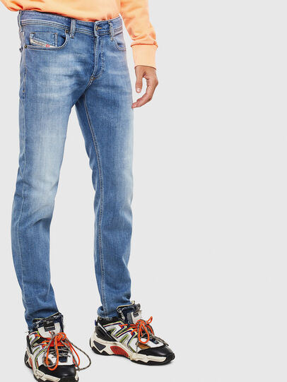 Diesel - Sleenker 0095G, Light Blue - Jeans - Image 4