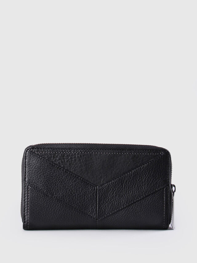 Diesel GRANATO, Black Leather - Zip-Round Wallets - Image 2
