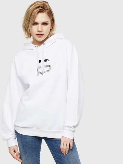 Diesel - F-ANG-HOOD-S1, White - Sweaters - Image 1