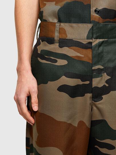 Diesel - P-BERTI-CAMU, Green/Brown - Shorts - Image 3