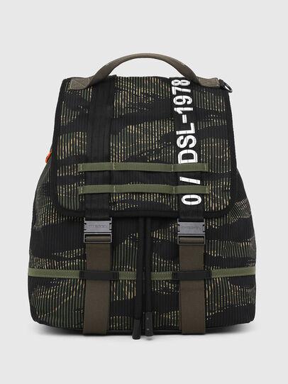 Diesel - VOLPAGO BACK, Green/Black - Backpacks - Image 1