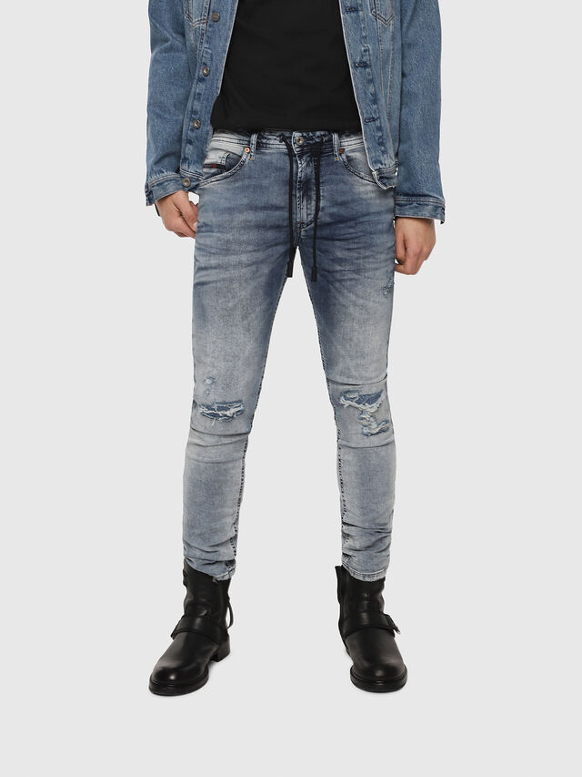 Diesel - Thommer JoggJeans 069FC, Light Blue - Jeans - Image 1