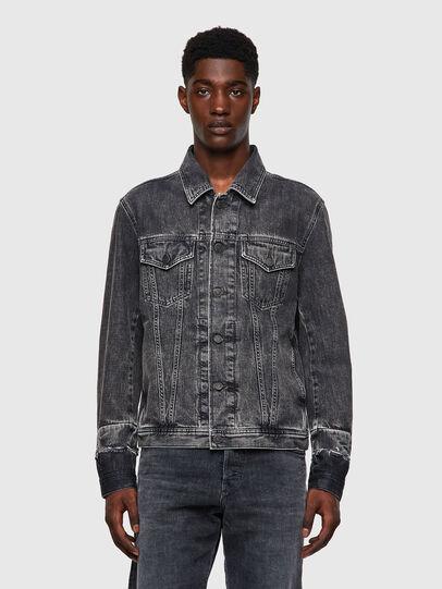 Diesel - NHILL-C1, Black - Denim Jackets - Image 1