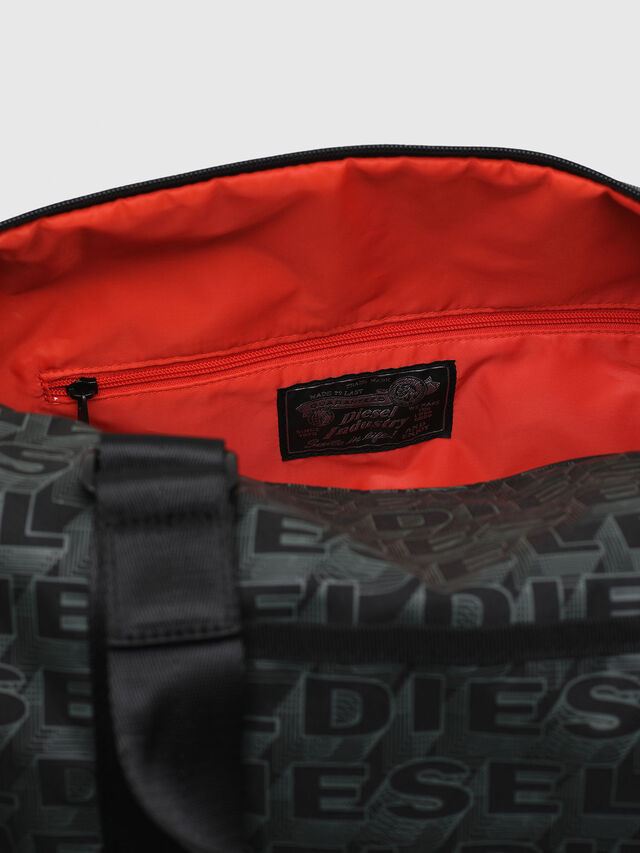 Diesel - F-DISCOVER DUFFLE, Black/Green - Travel Bags - Image 4