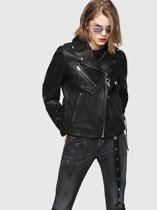 Womens Leather Jackets Go With No Plan On Diesel Com