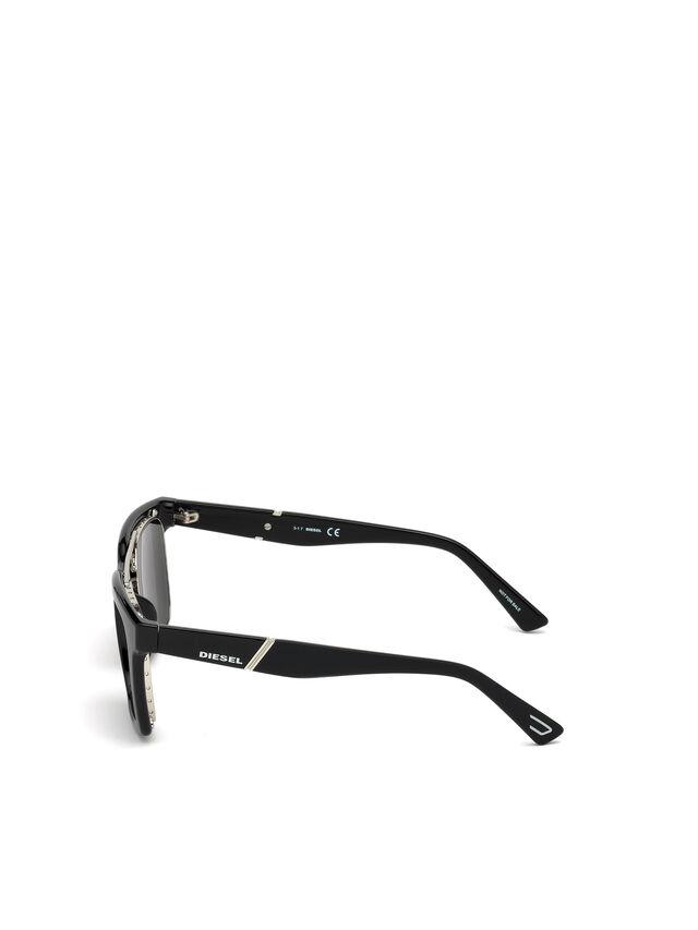 Diesel - DL0250, Bright Black - Eyewear - Image 2