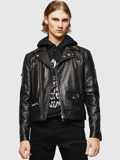 Diesel - L-PERF, Black - Leather jackets - Image 1