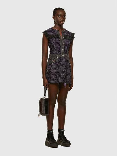 Diesel - D-OLGA, Black/Violet - Dresses - Image 6