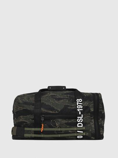 Diesel - M-CAGE DUFFLE M, Black/Green - Travel Bags - Image 1