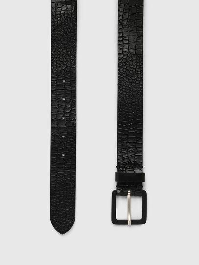 Diesel - B-CROCLE, Black - Belts - Image 3