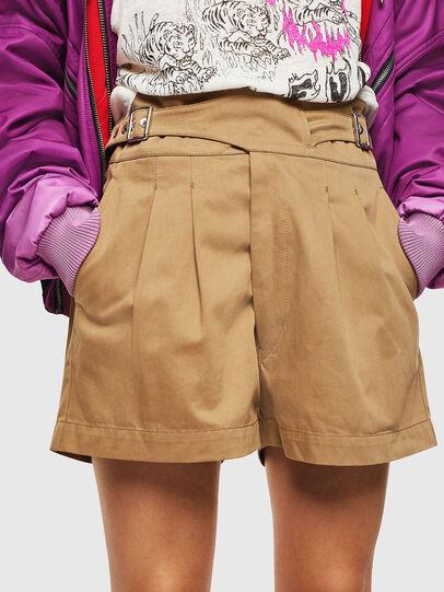 Diesel - S-BISA, Light Brown - Shorts - Image 1