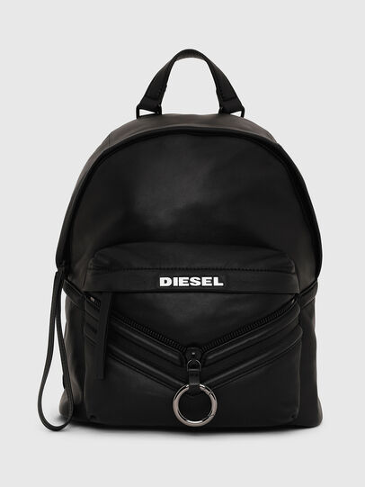 Diesel - LE-ZIPPER BACKPACK, Black - Backpacks - Image 1