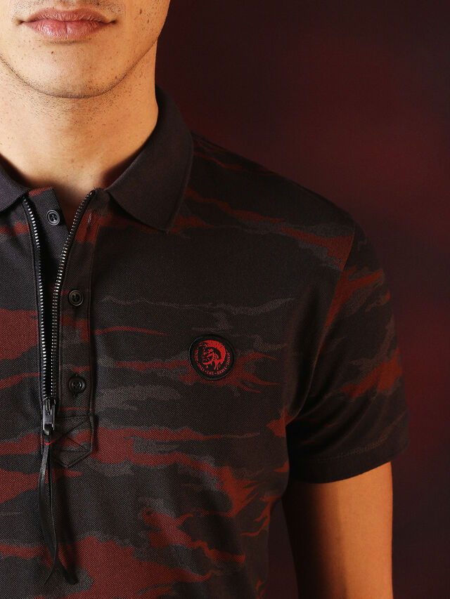 Diesel - DVL-POLO-SPECIAL COLLECTION, Red/Black - Polos - Image 1