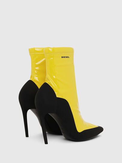 Diesel - D-SLANTY ABH, Yellow - Ankle Boots - Image 3