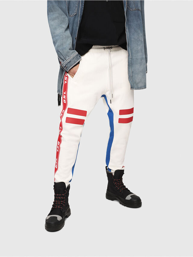 Diesel - P-YATRI, White/Red/Blu - Pants - Image 1